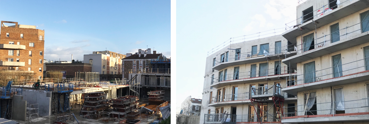 Chantier Immeubles de logement Le Julia