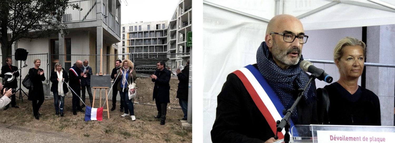 Dévoilement de plaque pour le projet «Faubourg 94», Le Julia, Ivry-sur-Seine