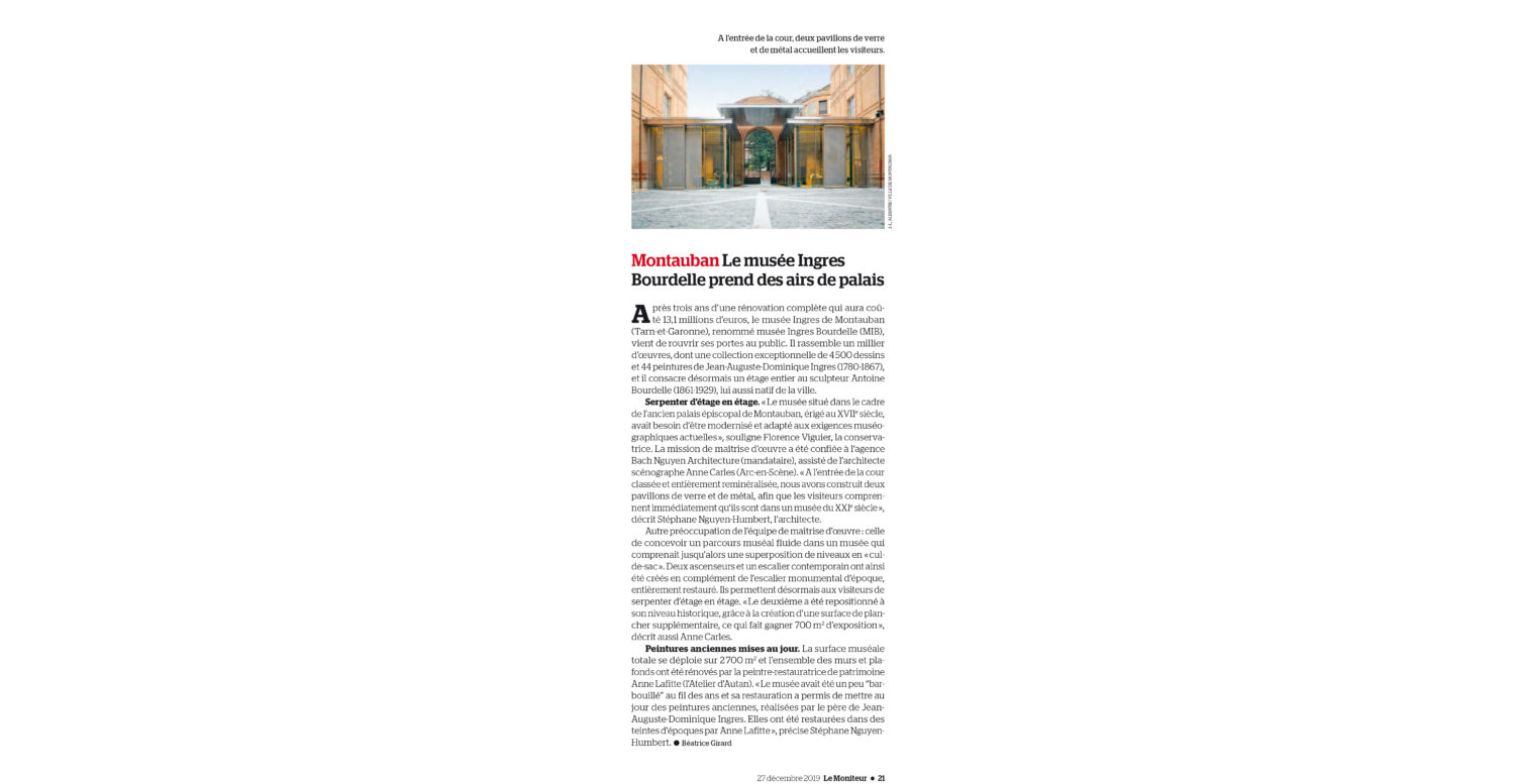 Publication in the Moniteur